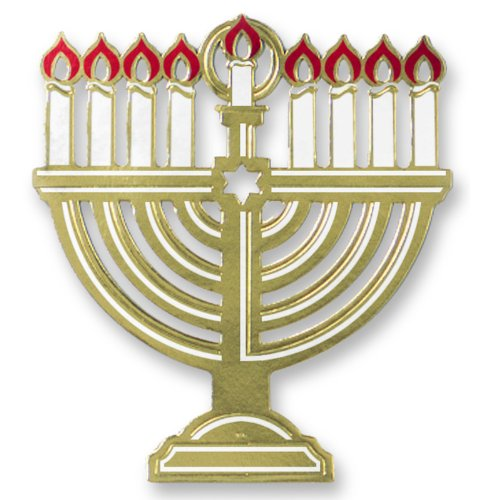 Foil Menorah Silhouette Party Accessory (1 count) (1/Pkg)