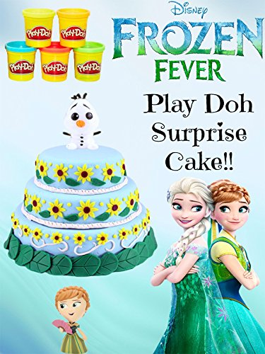 HUGE Disney Frozen Fever Play Doh Cake - Surprise Toys Fash'ems, Mystery Minis, Chocolate Eggs