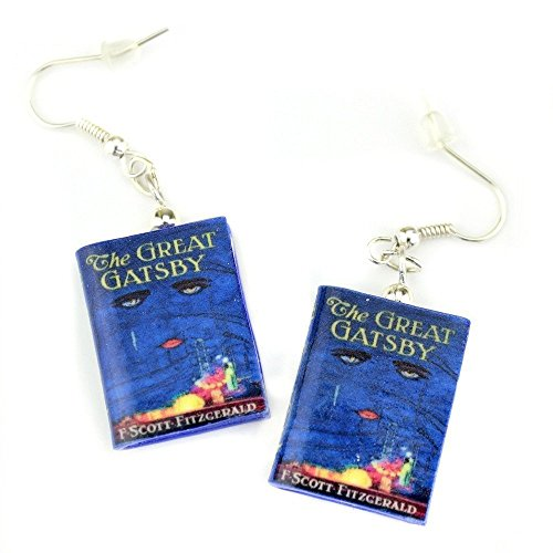 THE GREAT GATSBY F. Scott Fitzgerald Polymer Clay Mini Book Earring Pair by Book Beads ✯ OFFICIALLY LICENSED ✯