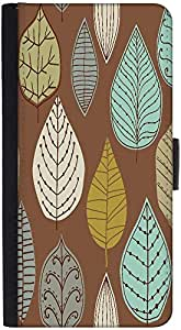 Snoogg Colorful Leaves Brown Designer Protective Phone Flip Back Case Cover For Xiaomi Redmi Note 3