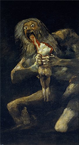 Perfect Effect Canvas ,the Best Price Art Decorative Prints On Canvas Of Oil Painting 'Goya Y Lucientes Francisco De Saturn Devouring One Of His Sons 1821 23 ', 18 X 33 Inch / 46 X 84 Cm Is Best For Wall Art Decoration And Home Decoration And Gifts