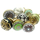 Mixed Set of Shabby Chic Vintage Style Ceramic Cupboard Knobs x Pk 8 (MG-127) - 'Vintage-Chic' TM Product