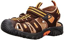 Jumping Jacks Sand Cruiser Dress Sandal (Toddler/Little Kid), Brown Microsuede/Brown/Orange Trim, 22 EU (5.5 W US Toddler)