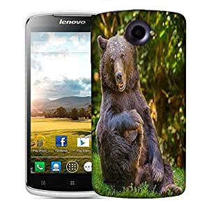 Snoogg Laughing Bear Designer Protective Phone Back Case Cover For Lenovo S920