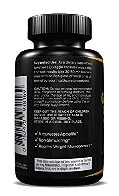 95% HCA Pure Garcinia Cambogia - FDA Approved Facility, Made in the USA, Fat Burner, Appetite Suppressant, All Natural, Stimulant-free Dietary Supplement! MONEY BACK GUARANTEE!