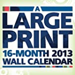 Large Print 2013 Wall Calendar