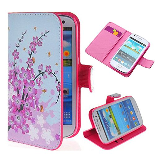 Vandot 1 X 3D Bling Plum Blossom Flip Leather Case Protective Skin Case Cover Skin Hard Cover For Samsung Galaxy S4 I9500 Flower Leather Case front-932468