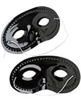 Dozen Plastic Black Face Masks