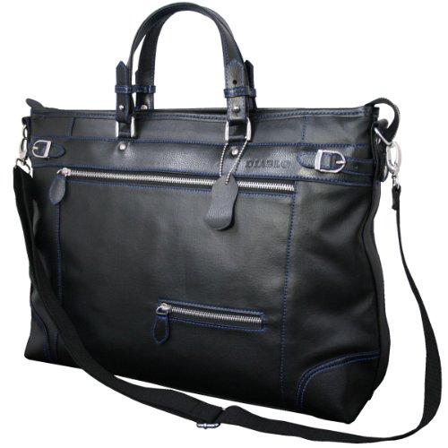 DIABLO ディアブロ ビジネスバッグ メンズ 大容量 ツートンカラー 2WAYバッグ 黒×青 【KA-2344】