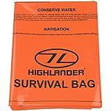 Highlander High Viz Bright Orange Lightweight Packable Emergency Survival Bivi Bag