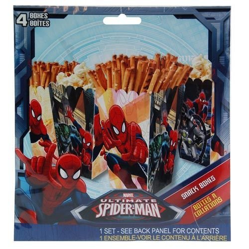 Marvel Ultimate Spider-man 4pk Paper Snack Boxes