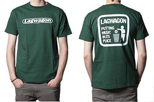 (ラグワゴン) LAGWAGON / PUTTING MUSIC GREEN オフィシャル Tシャツ Lサイズ