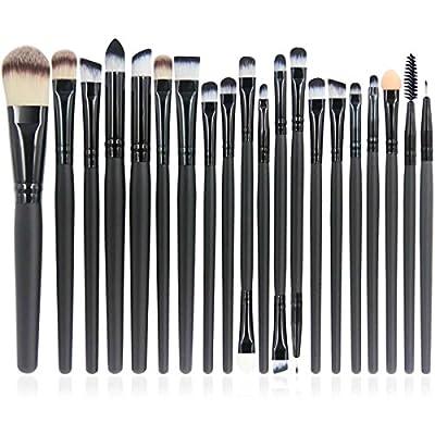 11pcs Professional Makeup Cosmetic Brush Set Eyebrow Eyeliner Foundation Powder Bamboo Brush with Free Bag