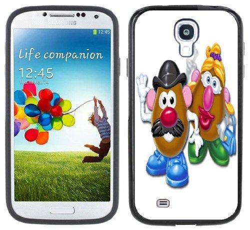 Mr & Mrs Potato Head Handmade Samsung Galaxy S4 Black Bumper Hard Plastic Case front-434592