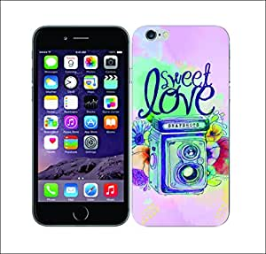 Purple Dew Drops 2009 Floral Shutter Photo Hard Cover for Apple Iphone 6