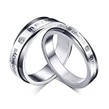 buy Colorgift Stainless Steel Diamond Ring You Are Always In My Heart Engagement Ring