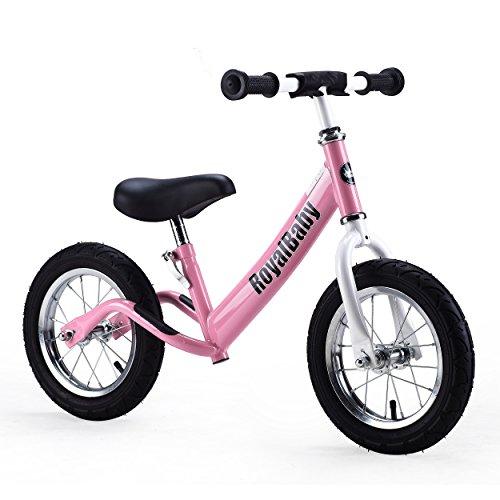 Royalbaby 12 inch Kid's Bike, Boy's Bike, Girl's Bike Balance Bike, Running Bike, Push Bike, No Pedal Bike, Pink, Red, Green, Blue