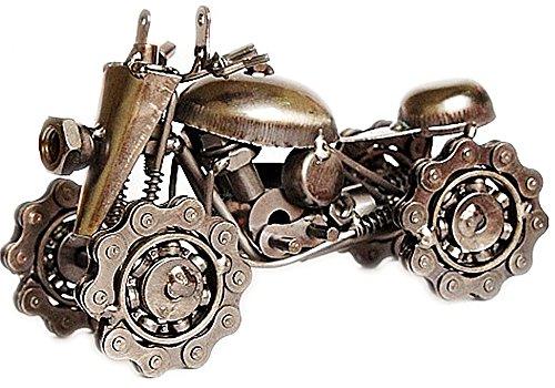 Zenness Handmade Snow MOTO Model /Model Art Motor,Metal Material,Black/Red (Black)