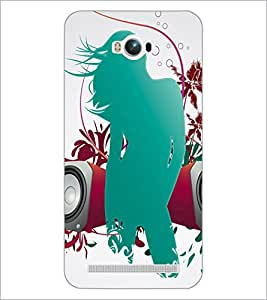 PrintDhaba Girly D-4186 Back Case Cover for ASUS ZENFONE MAX ZC550KL (Multi-Coloured)