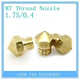 Generic MK10 5pcs 3D Printer Reprap Makerbot 2 M7 Brass Nozzle 0.2/0.3/0.4/0.5/0.6/0.8mm For 1.75mm Filament Screw...