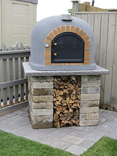 Outdoor Pizza Oven, Wood Fired, Insulated, w/ Brick Arch & Chimney (Pizza Ovens Wood Fired compare prices)