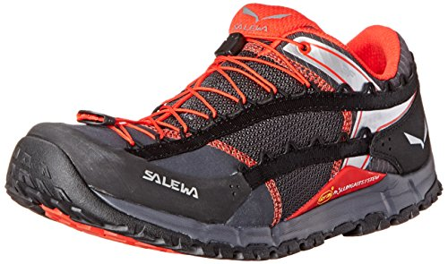 Salewa Men's MS Speed Ascent Hiking Shoe, Carbon/Flame, 10 M US