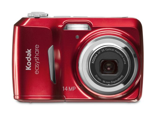 Kodak EasyShare C1530 14 MP Digital Camera with 3x Optical Zoom and 3.0-Inch LCD (Red)