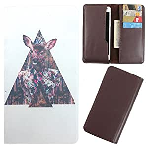 DooDa - For Lava Iris Fuel F1 Mini PU Leather Designer Fashionable Fancy Case Cover Pouch With Card & Cash Slots & Smooth Inner Velvet