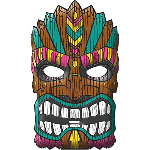 Tiki Mask for Luau Party Can Be Used as Decoration As well