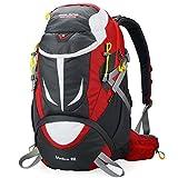 Altosy Hiking Daypack Outdoor Waterproof Travel Backpacks Blue/orange 8278 (Red, 40lbs)