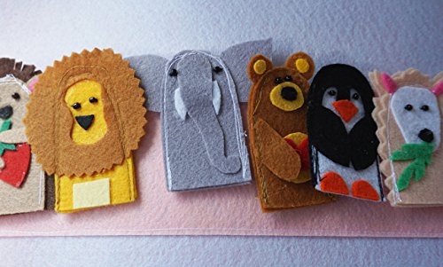 5-Finger-Puppets-Quiet-Book-Page-Quiet-Book-Quiet-Activity-Book-Birthday-Gift-For-Toddler-Learning-Book-Childrens-Book-Felt-Book