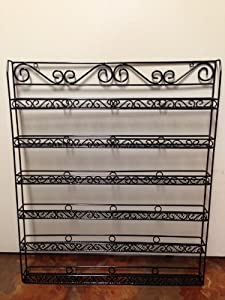 Nail Polish Wall Rack (Fit Up To 100 Bottles of Nail Polish) (Metal Frame, Unbreakable) (BLACK)