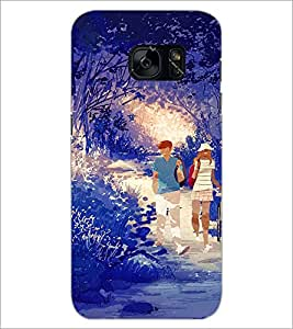 PrintDhaba Couple D-4252 Back Case Cover for SAMSUNG GALAXY S7 (Multi-Coloured)