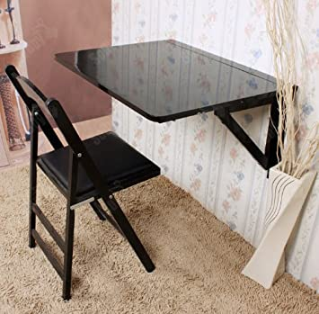 Sobuy Fwt05 Sch Table Murale Rabattable Pliable En Bois Table De