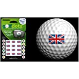 Golfdotz Golf Ball Transfers - Personalize Your Golf Ball - Union Jack / United Kingdom