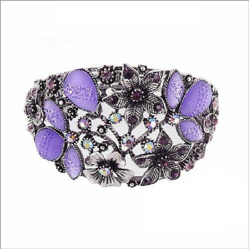 JOA Garden Theme W Stone Hinged Bracelet #037966