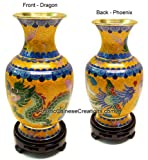 Chinese Art / Chinese Colelctibles / Chinese Crafts / Chinese Cloisonne Vase - Dragon & Phoenix