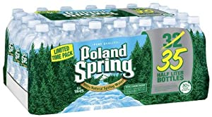 Poland Spring Bottled Water, 16.9 oz, 35-Count