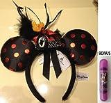 Disney Theme Parks Minnie Mouse Black & Red Cameo Headband