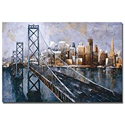 The Bay Bridge by Marti Bofarull Premium Gallery-Wrapped Canvas Giclee Art (Ready to Hang, Oversize)