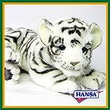 HANSA ハンサ ぬいぐるみ 5337 仔 ホワイトタイガー 28 WHITE TIGER CUB LAYING