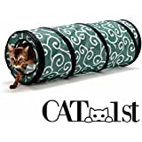 Cat1st Ninja Cat Tunnel (Green) Best Cat Toy