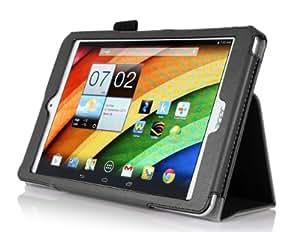 ELTD® Housse de haute qualité pour Acer Iconia A1-830 Tablette Avec Stand de positionnement support et le sort de veille (Noir)