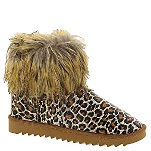 Happy Feet Snooki Fur Slipper Boot Women's Slipper Medium US Leopard