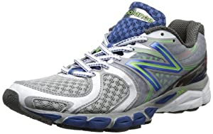 New Balance Men's M1260 Stability Running Shoe,Silver/Blue,7.5 2E US
