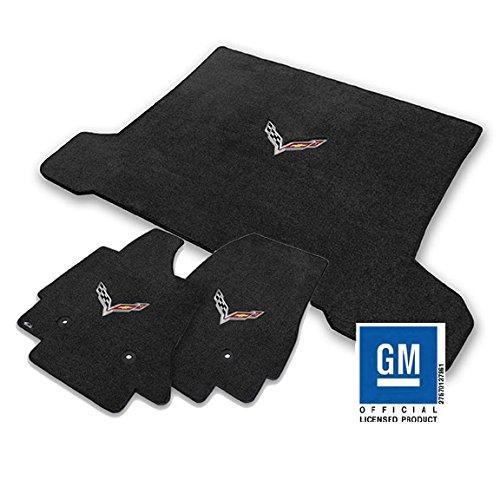 2005-2006 C6 Corvette Cashmere Tan Floor Mats Crossed Flags /& CORVETTE Logos Lloyd Mats