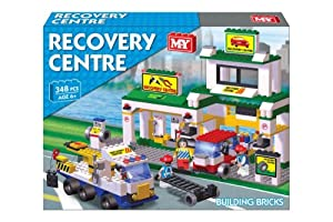 GARAGE CAR RECOVERY CENTRE BUILDING BRICK SET