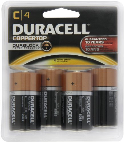 Read About Duracell MN1400B4 C Cell 4-Count