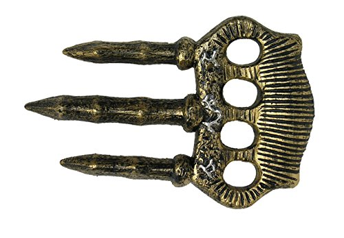 Bronze Knuckle Blade Costume Prop Accessory Claw Roman Greek Medieval Weapon New