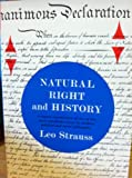 Image of Natural Right and History (Phoenix books;Charles R.Walgreen Foundation lectures;1949)